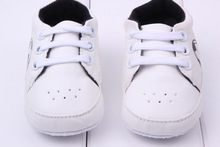 New Fashion Prewalker Infants Lace Up Sneaker Lovely Soft Comfy Breathable PU Leather Trainers Shoes(China (Mainland))