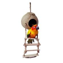 Holz Klettern leiter Haustier Vogel Leiter Ara Nymphensittich Parrot Hamster Holz Leiter Klettern Glocke Schaukel Biss Spielzeug(China (Mainland))