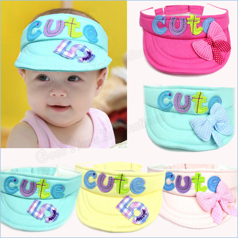 New Arrival Hats Caps Girls Sun Visor Baby Summer Hat Baby Beanie Outdoor 100% Cotton Unisex Fashion Kids Hats Baseball Cap(China (Mainland))