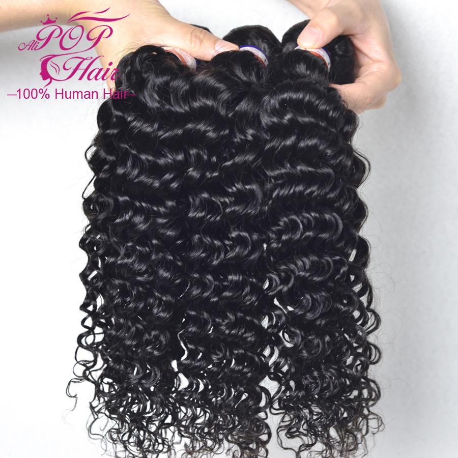 Rosa Hair Products Brazilian Deep Wave Virgin Hair 3Pcs/Lot Grade 6A 100% Human Hair Ali Moda Deep Wave Brazilian Virgin Hair <br><br>Aliexpress
