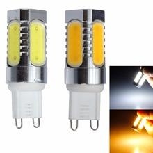 Hot 220V 7W G9 COB White / Warm Aluminum LED Corn Light Bulbs - HanNuo Limited store