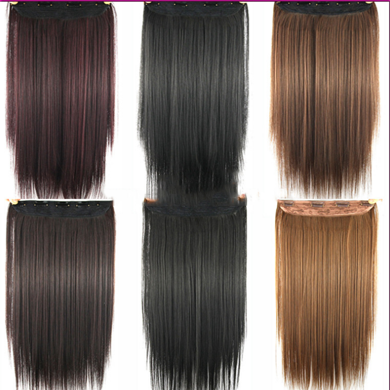 Straight Ponytail Wigs Hair Hairpiece Extension Fake Hair Styling clip Straight Hair Piece pad false<br><br>Aliexpress