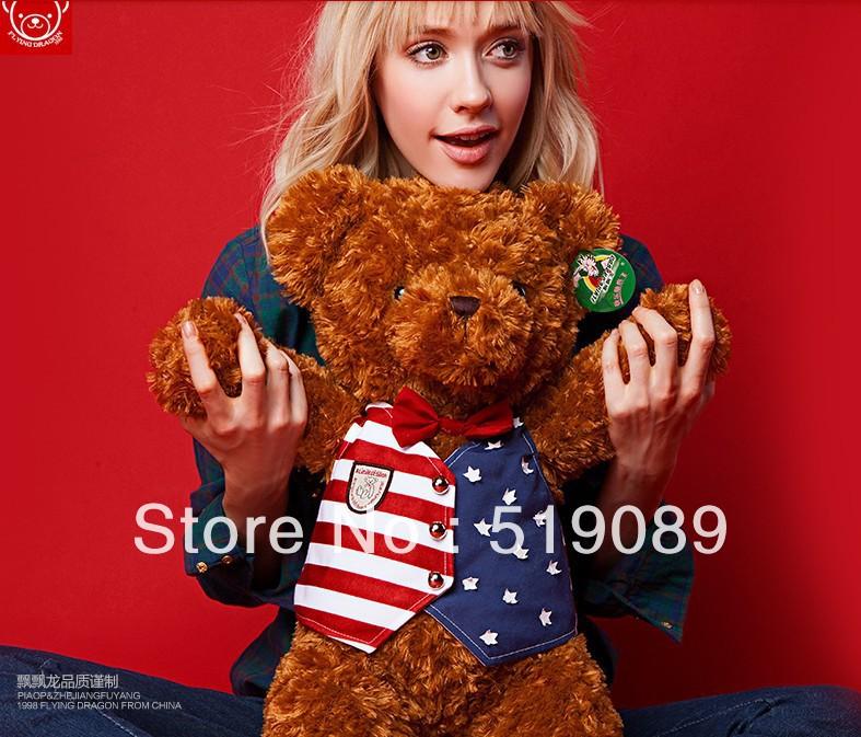 "Free shipping 1pcs 70cm=27.6"" Stuffed Animal Cute American Giant Teddy Bear Plush Toy For Girlfriend Gift(China (Mainland))"