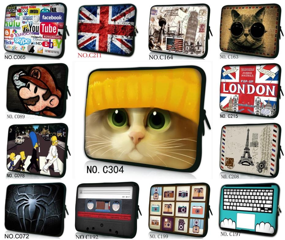 """10"""" 10.1"""" Cute Laptop Sleeve Carry Bag Netbook Case For ASUS Eee PC/Samsung N210(China (Mainland))"""