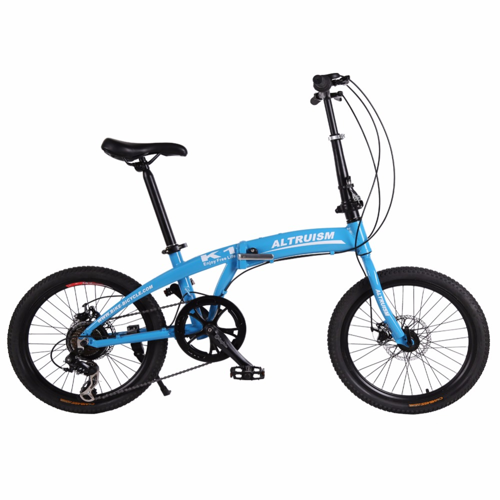 Altruism K1 7 Speed 20 Inch Steel Folding Bike Aluminum Alloy Frame MTB Mountain Bikes Folding Bicycle for Boys Girls Bicycles(China (Mainland))