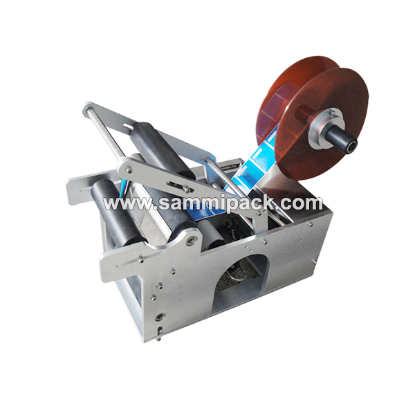 fast delivery small manul round bottle labeling machine,adhesive labeling machine(China (Mainland))
