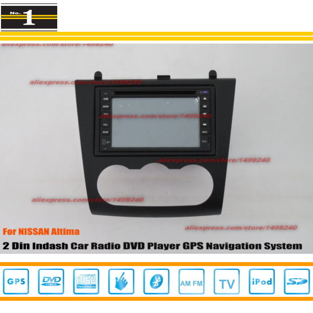 For NISSAN Altima 2007 ~ 2012 - Radio CD DVD Player & GPS Navigation System / Double Din Car Audio Installation Set(China (Mainland))