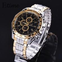 Relógio Masculino de luxo marca aço inoxidável homens relógio analógico homens moda relógio de quartzo casuais relógio de pulso 58