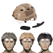 New Black Airsoft Tactical FAST Helmet with Protective Goggle ski helmet BHU2(China (Mainland))