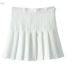 New Arrival Autumn Winter Skirt Women Girls Side Button A-Line Skirt High Waist Pleated Skirt Casual Sports Solid Mini Skirt 62