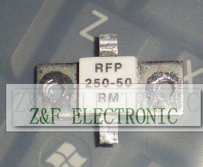 Bargain price RF LABS RF Resistor RFP 250-50 RM RFP250-50RM RFP-250-50RM 50 ohm 250 Watt 250W 50R Double pins USED 10PCS/LOT(China (Mainland))
