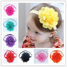 2016 Brand New HOT Hollow Elastic Hair Band Baby Headwear Fashion Headbands Girls Infant Bow Flower Hair Accessories XHH04190