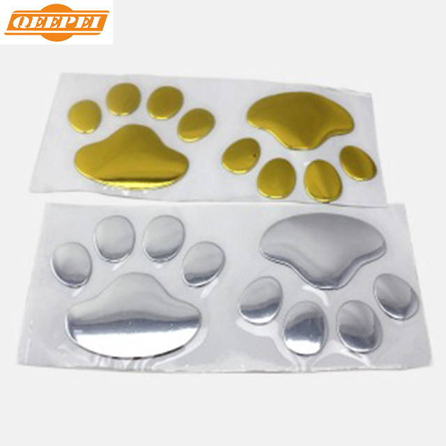QEEPEI 1 Pair High Quality 3D Car Styling Bear Paw Pet Fashion Stickers For Peugeot 206/307/308,Universal Auto Sticker,PP009