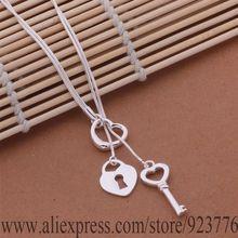 AN451 Free shipping silver plated Necklace silver plated fashion jewelry Tai chi key necklace bmsakdza edtamvaa