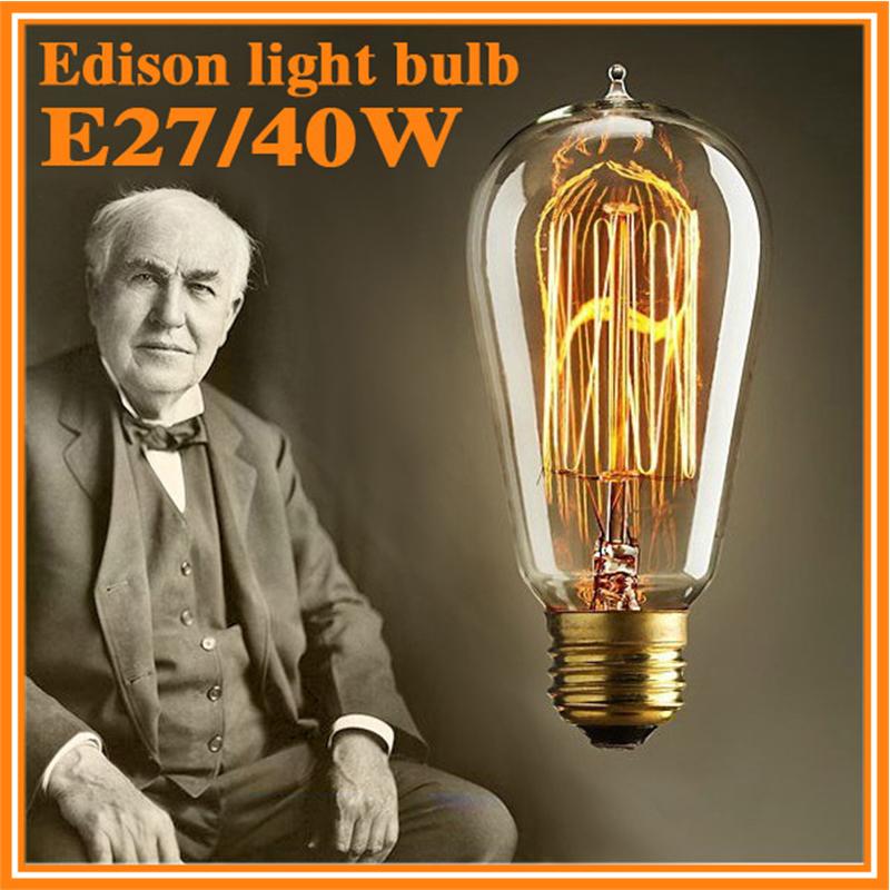 40W/60W Classical Vintage Retro E27 Filament Edison Bulb Light Warm White 110V 220V Antique Incandescent Lamp - solove store
