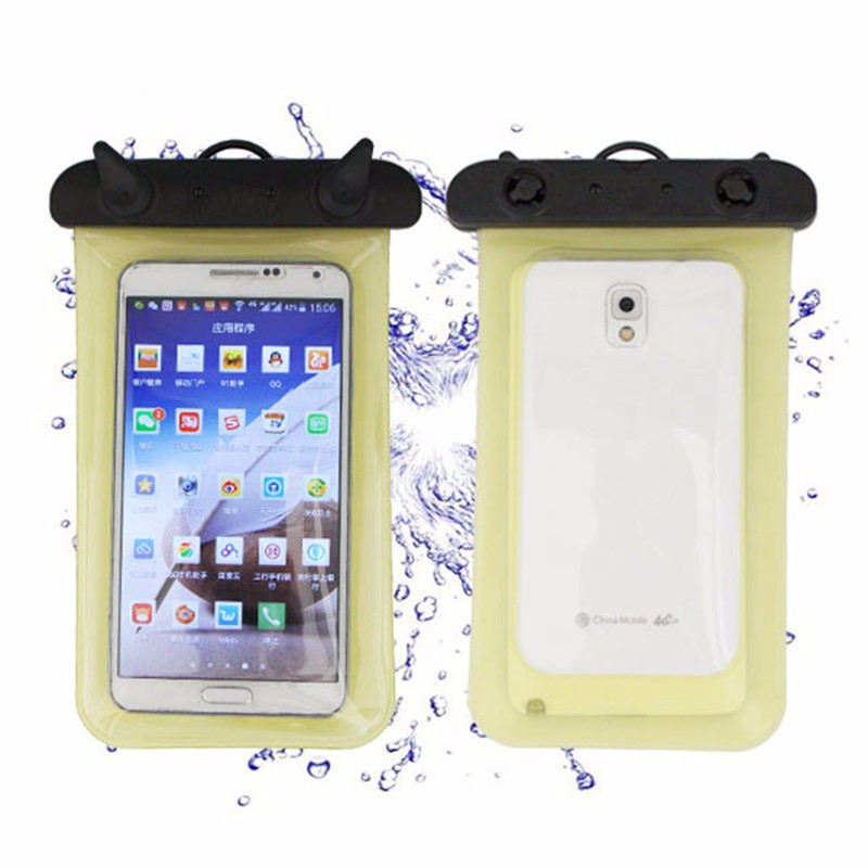 Transparent PVC Waterproof Diving Underwater Bag Pouch Case For Samsung Galaxy S6 S5 Iphone 6 Plus 5 Cell Phone Bags Clear