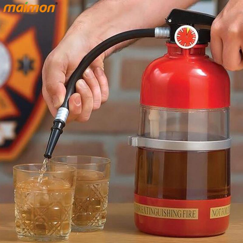 2016 Creative Fire Extinguisher Drink Dispenser Liquid Water Juice Wine Soda Drink Alcohol Cocktail Beverage Dispenser Machine(China (Mainland))