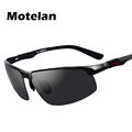 2017 Men s Polarized Semi Rimless Aluminum Sunglasses Driving Polarised Eyewear Goggle Oculos UV400 Protection Sun