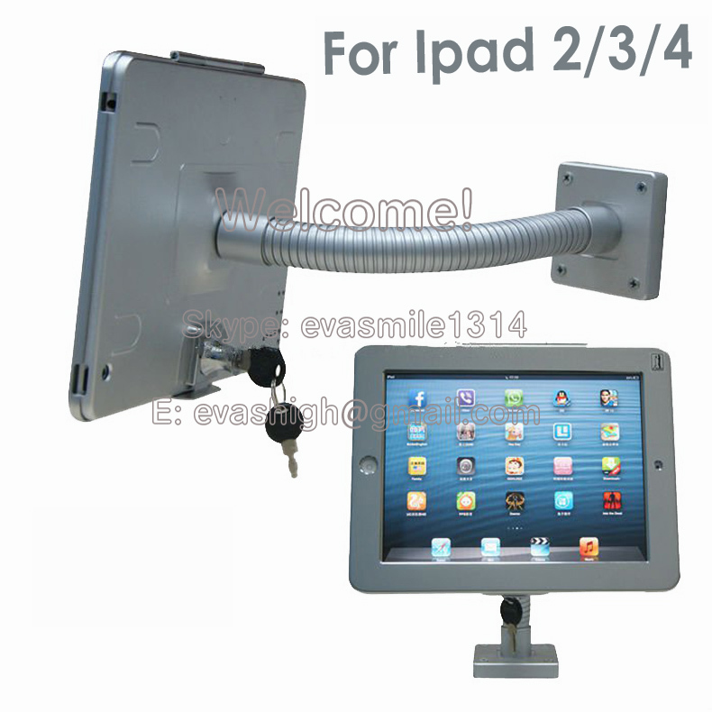 Tablet wall display mount stand desktop security protection kit lock holder for iPad2/3/4(China (Mainland))