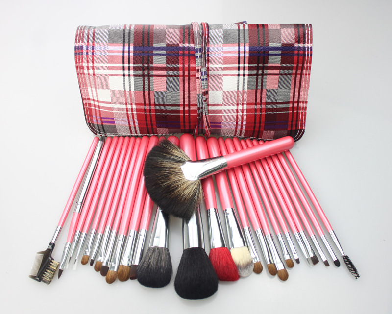 MK/TL026-04, Professional Brand Premium 26pcs Natural Mink Horse Goat Hair Cosmetic Makeup Brushes Set Make Up Beauty Tool Brush(China (Mainland))
