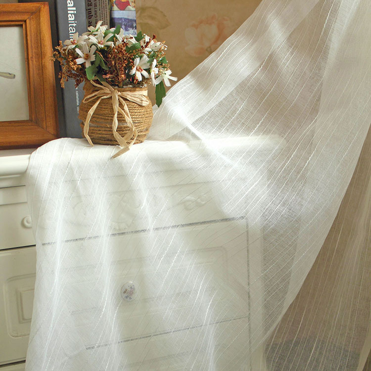 Free shipping Pastoral Cambric tulle yarn gauze kitchen curtains French Window living room bedroom customized(China (Mainland))