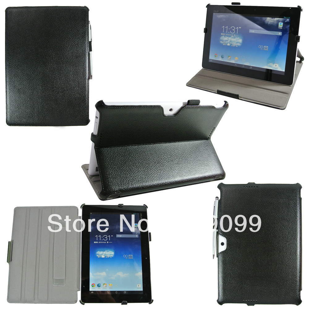 Heat Setting Ultra Flip PU Case stand Cover with handstrap For Asus MEMO PAD FHD 10 ME302C 10'' 300pcs/lot Free shipping(China (Mainland))