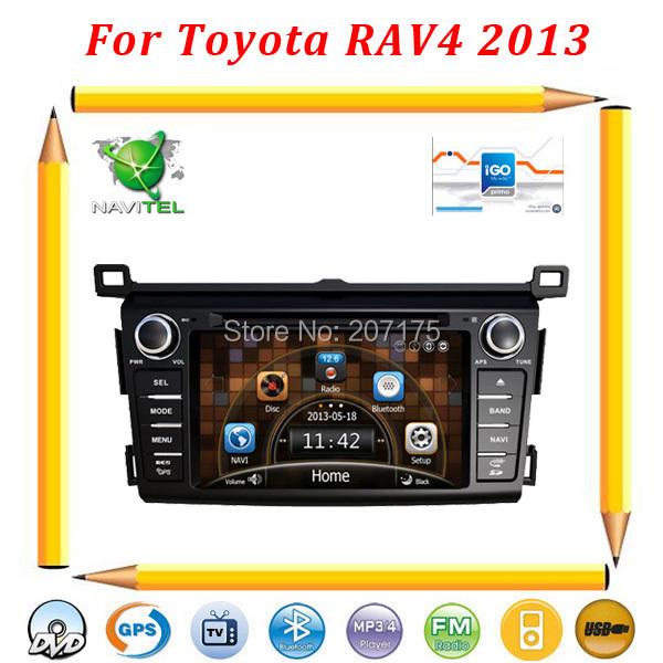 2013 New Toyota RAV4 Auto DVD Navigation with GPS, Radio, TV, BT, USB/SD, DVR(Optional)+Russian Menu+Free 4G card with map(China (Mainland))
