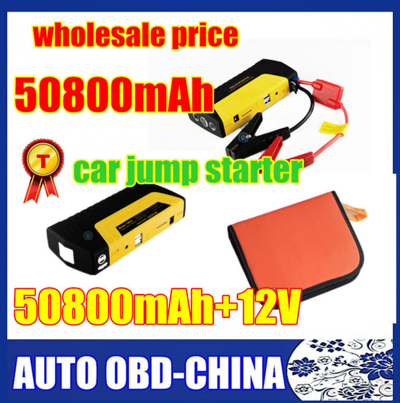 Best Quality Portable Mini Jump Starter 50800mAh Car Jumper 12V Booster Power Battery Charger Mobile Phone Laptop Power Bank(China (Mainland))