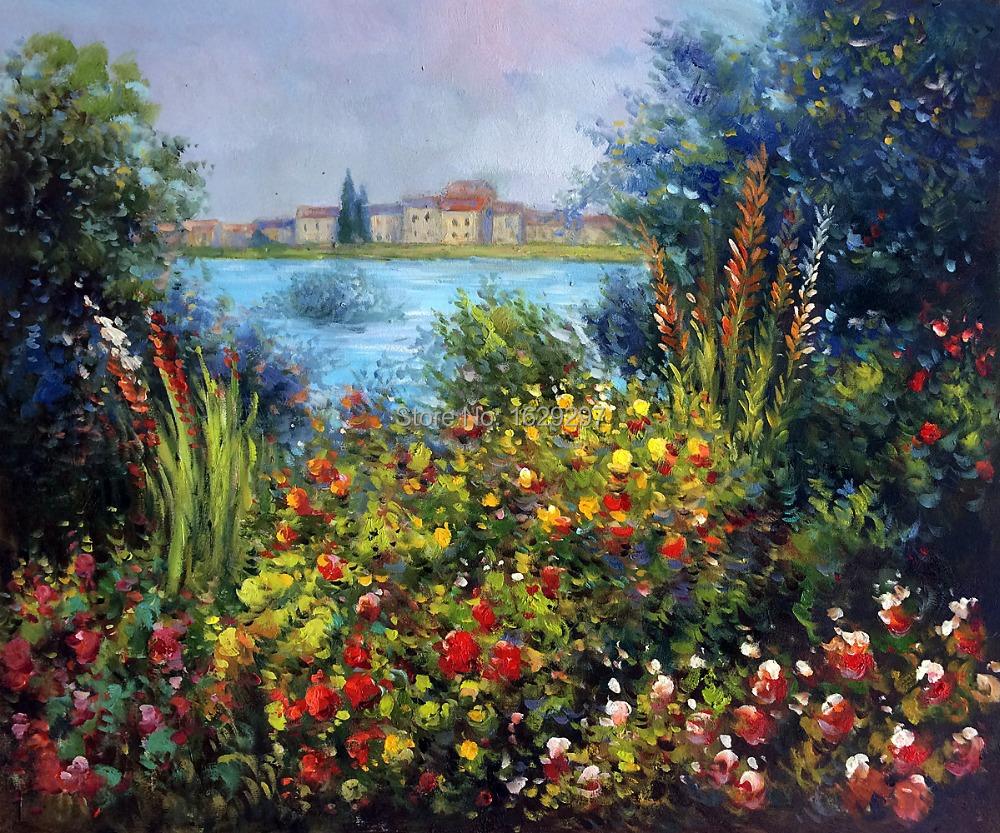 Acquista all 39 ingrosso online monet dipinti fiori da for Fiori dipinti ad olio