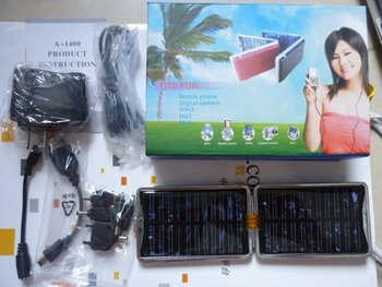 PDA MP3 MP4 -solar chargers Solar Power Charger for cell phone Camera