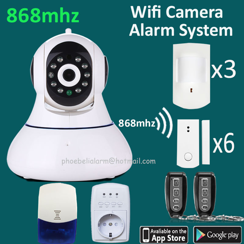 white color security system wireless 868mhz good signal home gsm alarm system S2