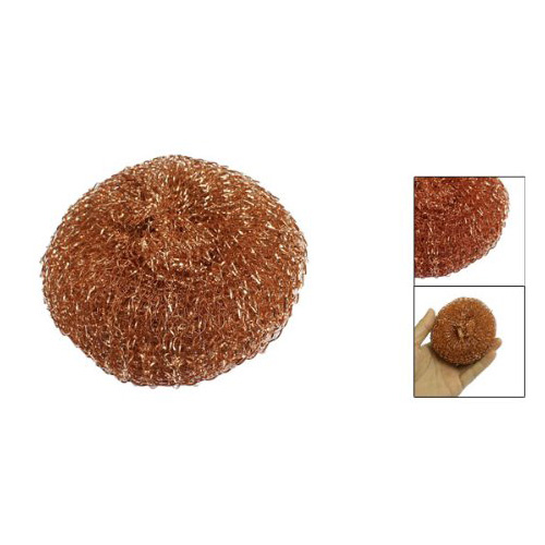 June Queen! 8cm Diameter Copper Spiral Scourer Cleaning Ball for Machine Tool(China (Mainland))