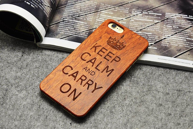 Luxury Wooden Wolf Totem Pattern Mobile Phone Case For iPhone 6/6plus/6s/6s plus