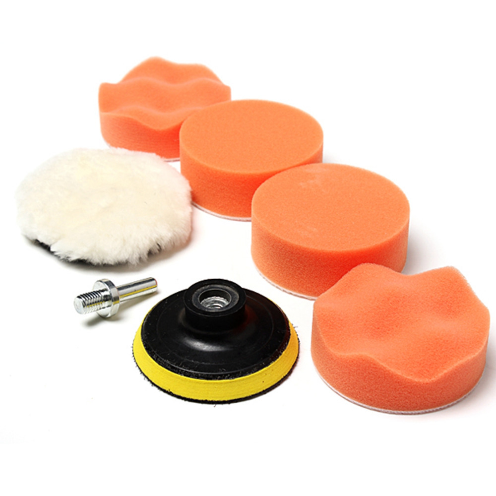 New Set Polishing Buffing Pad Kit for Car Polishing with Drill Adapter Buffing Pad Kit Auto Truck Boat Polisher Tools Supplies(China (Mainland))
