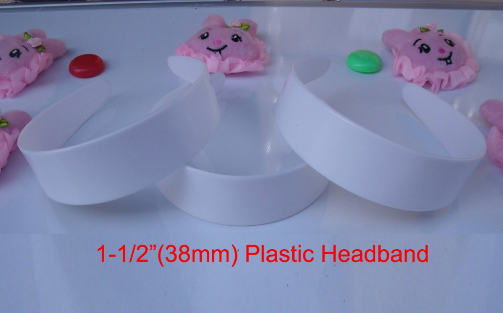 "20 pcs 38mm plastic headband girl plastic hair band bulk 6 sizes to choose: 3/8"", 5/8"", 6/8"",1"", 1-1/2"", 48mm(China (Mainland))"