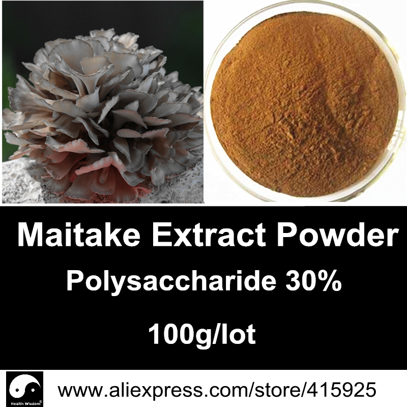 Pure Grifola Frondosa Extract Powder 30% Maitake Polysaccharide Mushroom Nutrition Immune System Dietary Supplements<br><br>Aliexpress