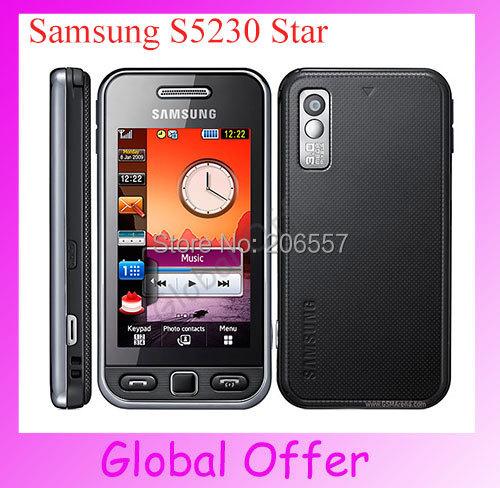 Original Unlocked Samsung S5230 Star Cellphone Camera Bluetooth refurbished NETWORK Technology(China (Mainland))
