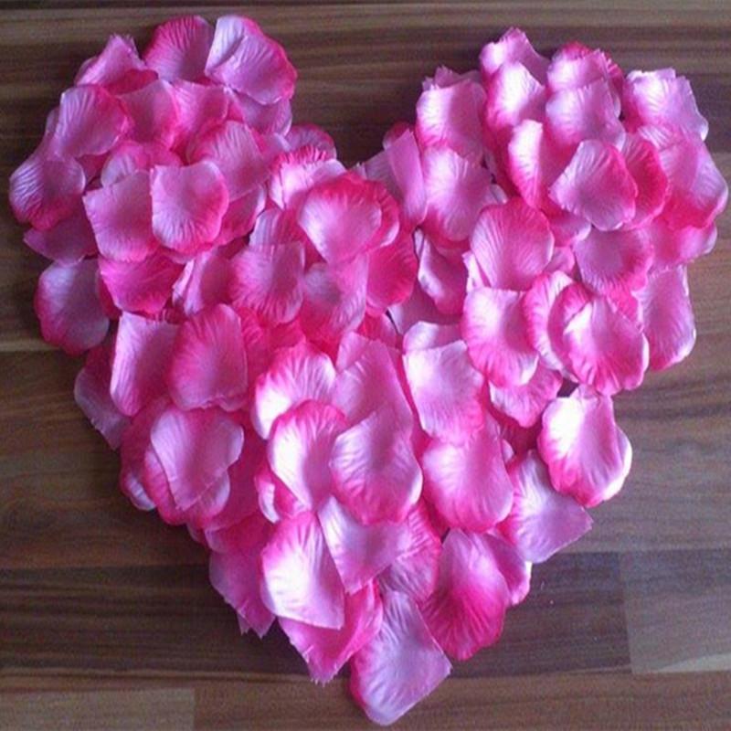 Silk Cloth Artificial Rose Petals Flowers 5x5cm Romantic Simulation Roses Petal for Wedding Home Decorations(China (Mainland))