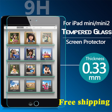 0.26mm 2.5D Ultra Clear Premium Tempered Glass Screen Protector Film For Apple iPad Mini mini2 mini3(China (Mainland))