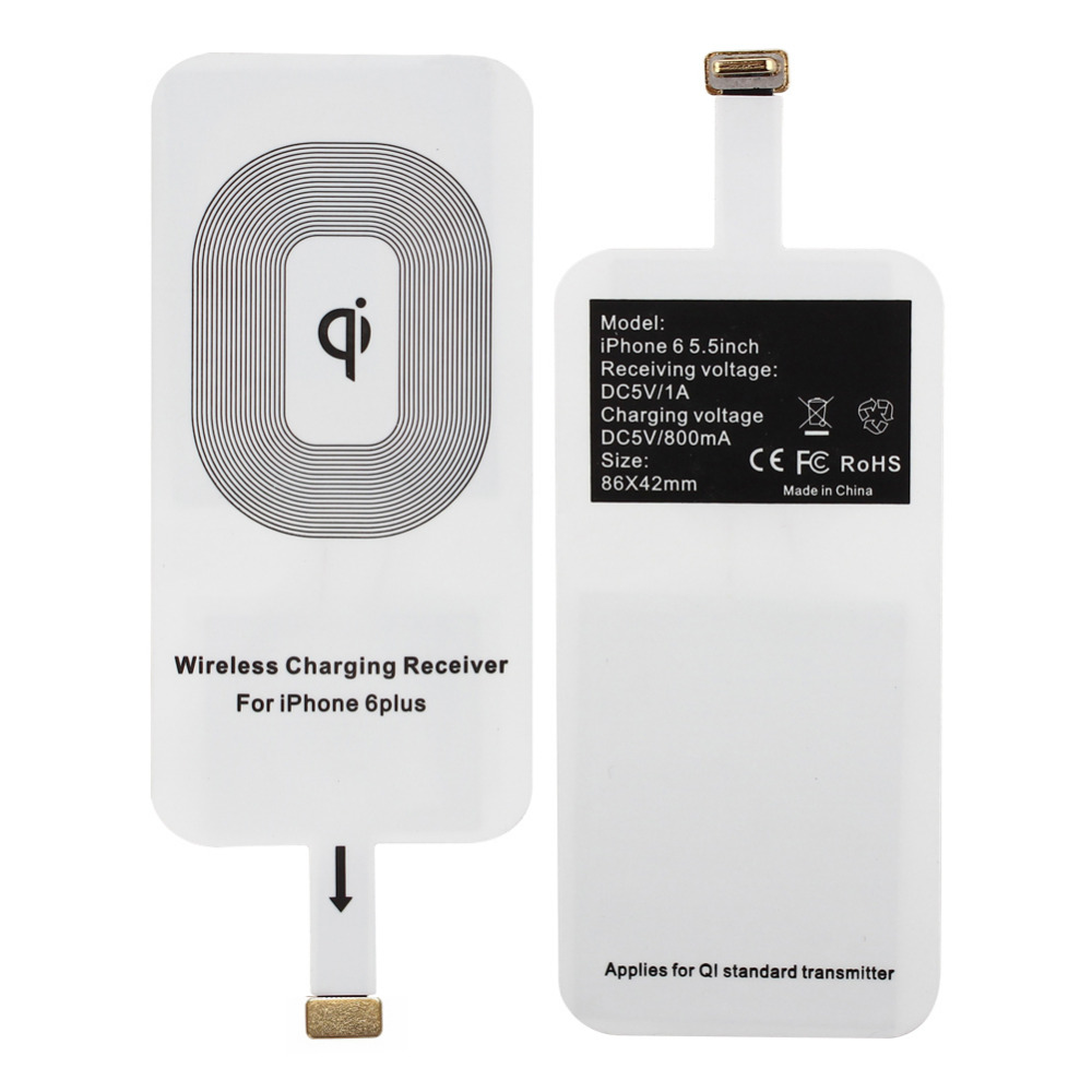 New Qi Wireless Charger Receiver Wireless Charging adapter for iPhone 6 Plus, Free Shipping(China (Mainland))