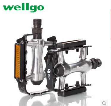 2015 wellgo Latest bike/cycling pedals Mountain Folding bicycle riding pedal assembly parts,Road bikes pedal Free shipping(China (Mainland))