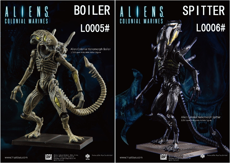 Hiya Toys 1/18 Hiya Toys Height 10cm Alien L0005 BOILER and L0006 SPITTER 12inch Model The finished product<br><br>Aliexpress