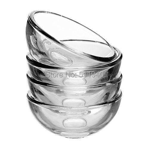 Free shipping, 10 pieces/lot 2x1 inch small clear glass bowls(China (Mainland))