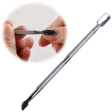 Cuticle Pusher Stainless Steel Finger Nail Dead Skin Rasps Push Cutter Callus Remover Cleaning Manicure Pedicure Care Tool