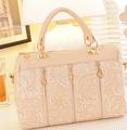 2015 Brand new lace decoration bags leather handbags wholesale handbags shoulder bag Korean fashion women messenger