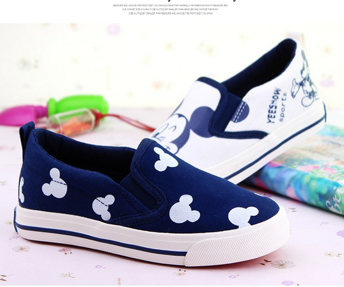 2016 New Spring Cartoon Children Shoes Brand Canvas Rubber Boys Girls Sneakers Comfortable Slip On Kids Shoes Child Footwear 427 (12)