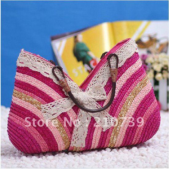 Free shipping,Fashion ladies bag,Beach handbag women totes bags,Summer straw bag Promation(China (Mainland))