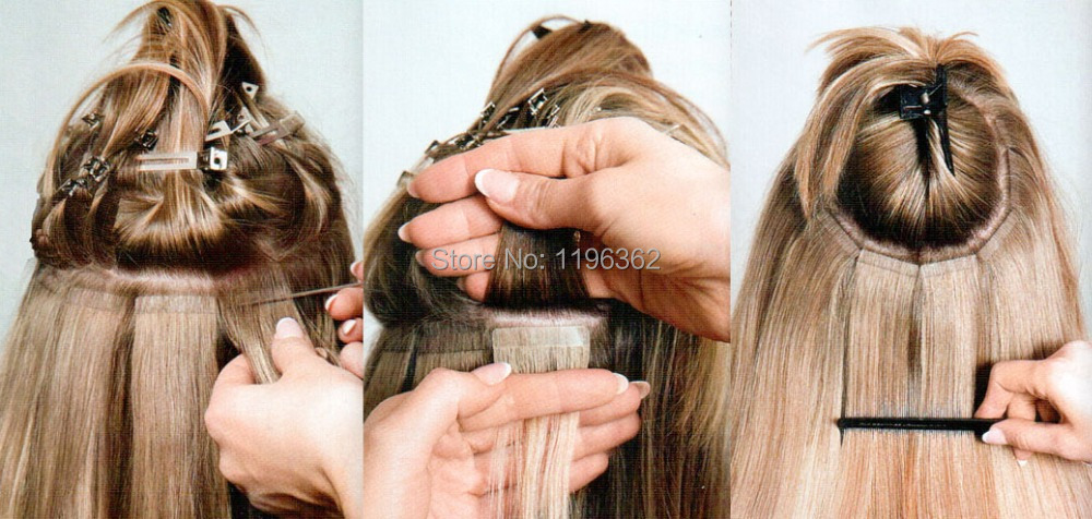 Bulk Tape Hair Extensions Remy Tape Hair Extensions