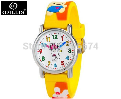 10M waterproof 3D Cartoon Design Analog Wrist Watch Children clock / kid Quartz Wrist Watches free shipping(China (Mainland))