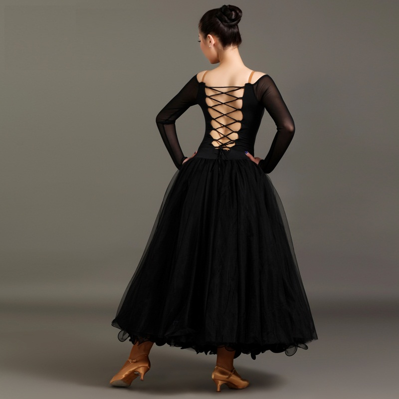 New limited offer red\black ballet dress good quality waltz\ballroom modern dance costumes dance competition performance dress(China (Mainland))